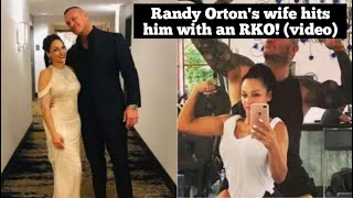 randy-orton-39-s-wife-hits-him-with-an-rko-video