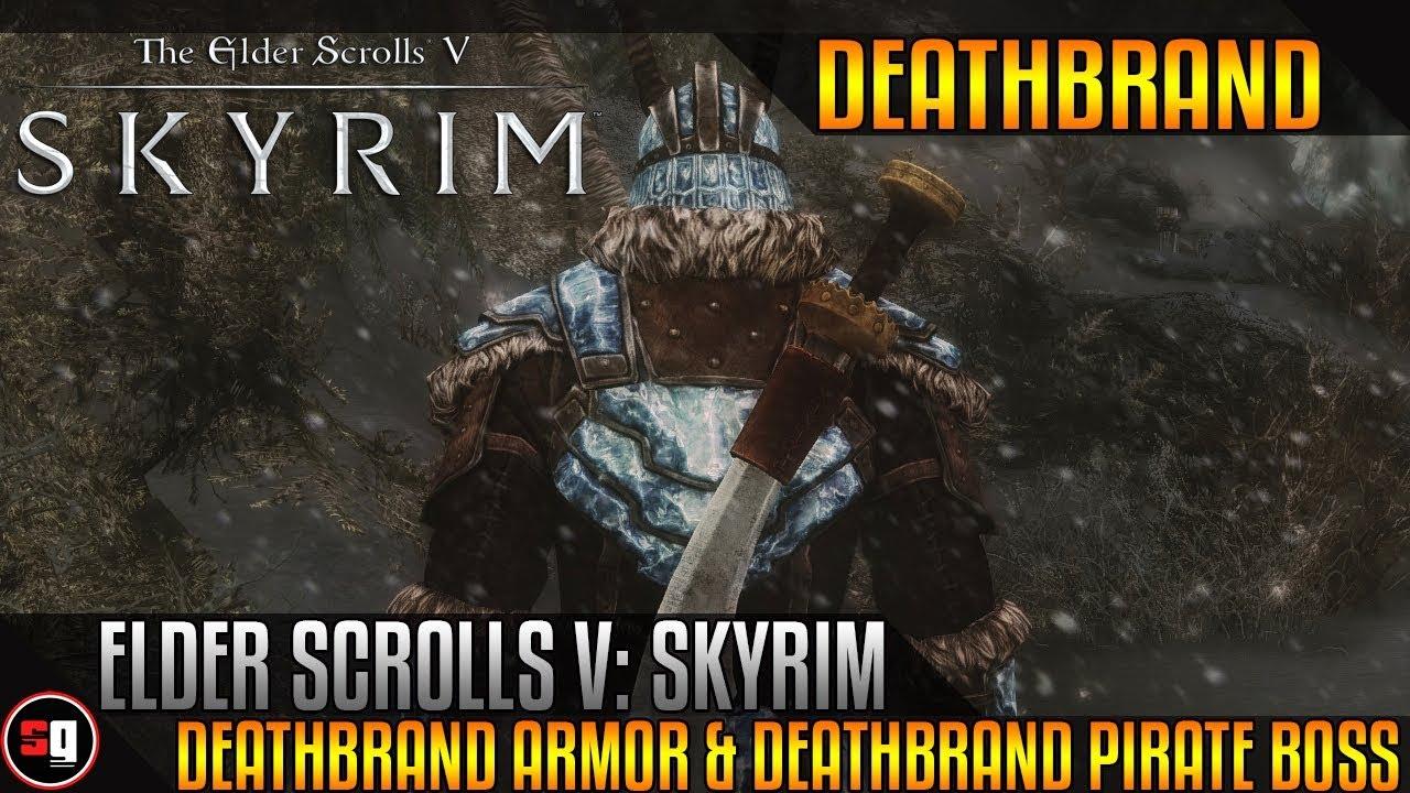 Elder Scrolls V Skyrim Dragonborn Deathbrand Armor Deathbrand