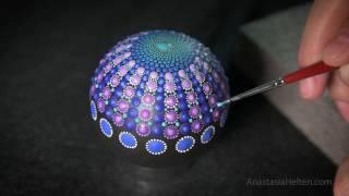 DIY Painting a Mandala Stone - Part 1/2