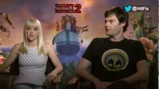 Bill Hader And Anna Faris Get Silly Discussing Their Return For 'cloudy With A Chance Of Meatballs 2
