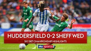 Garry Monk wins first Owls game | Huddersfield 0-2 Sheffield Wednesday | EFL Championship Highlights
