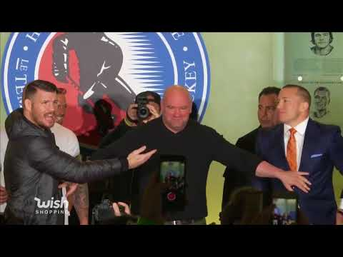 UFC 217: Bisping vs St-Pierre - Toronto Press Conference Face Off