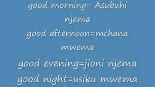 learn swahili part 1