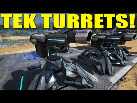 TEK TURRETS! (How Not to Be A Noob) - Ark:Survival Evolved
