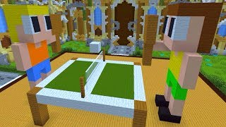 Minecraft Master Builder - VAMOS JOGAR PING PONG E COMER COOKIES?