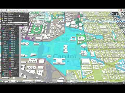 3d Streaming Maps On Cesium Washington,.