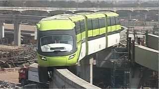 Mumbai Monorail first trail run on Feb 18, 2012.VOB