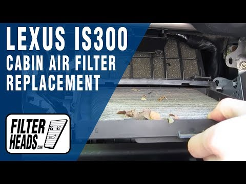 How To Replace Cabin Air Filter Lexus Is300 Youtube