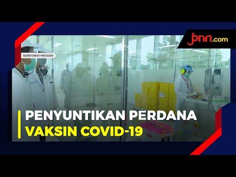 Jokowi Saksikan Penyuntikan Perdana Uji Klinis Vaksin COVID-19