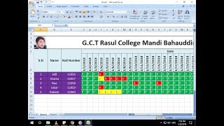 How To Make Attendance Sheet in Ms Excel - Attendance Management System in Excel