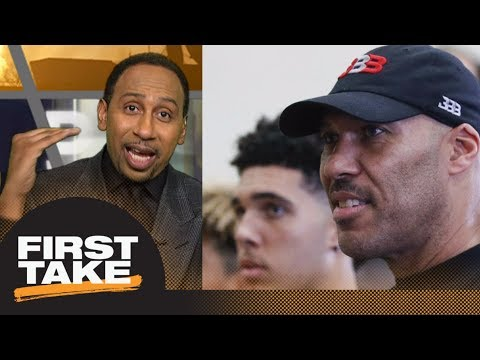 Stephen A. Smith doesn't like LiAngelo Ball and LaMelo Ball playing in Lithuania | First Take | ESPN