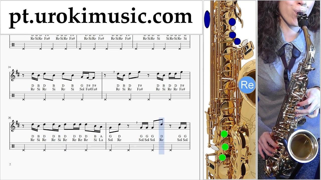 video aula de sax tenor