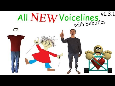 All NEW Voicelines with Subtitles (v1.3) | Baldi's Basics in