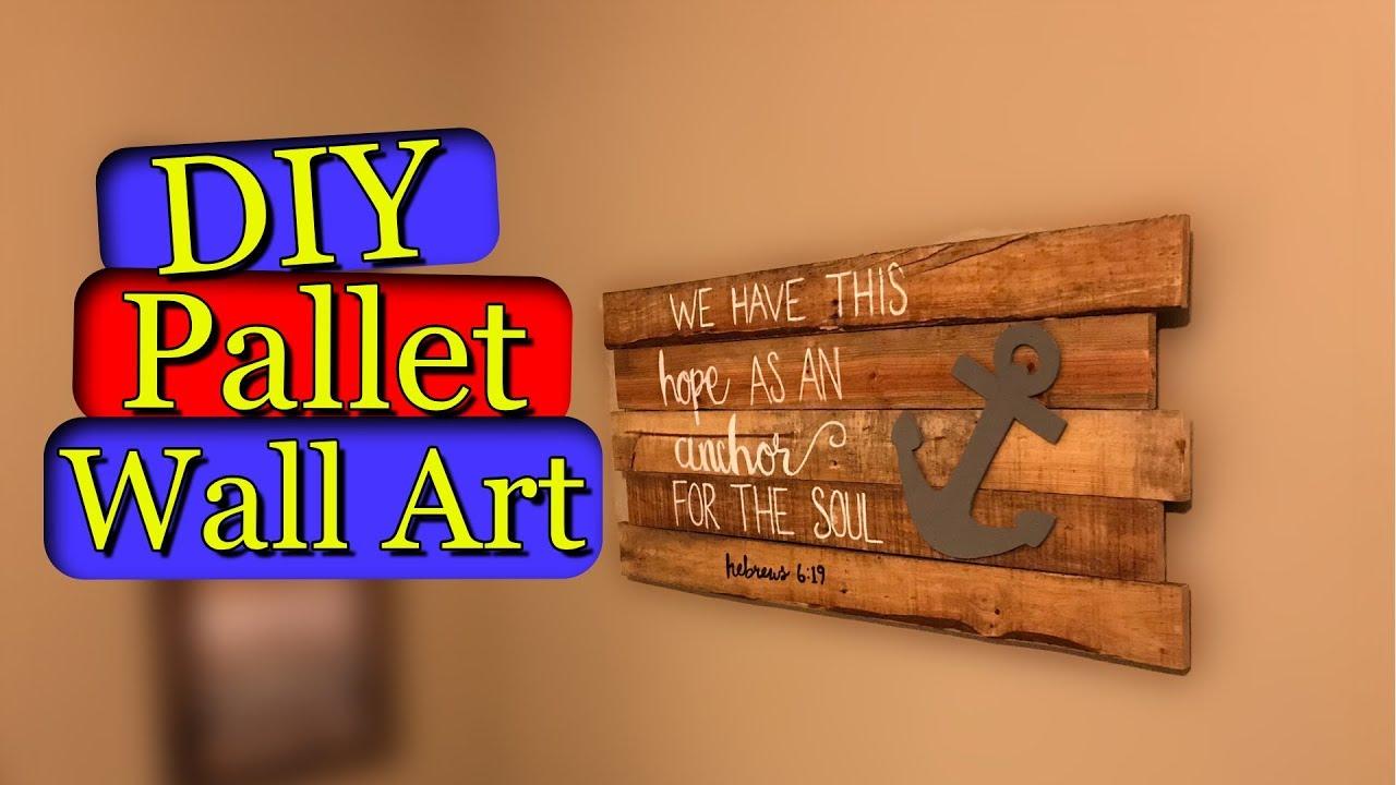 Pallet Wall Art Diy Youtube