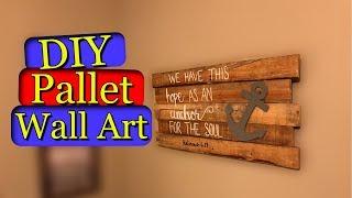 Pallet Wall Art  Diy