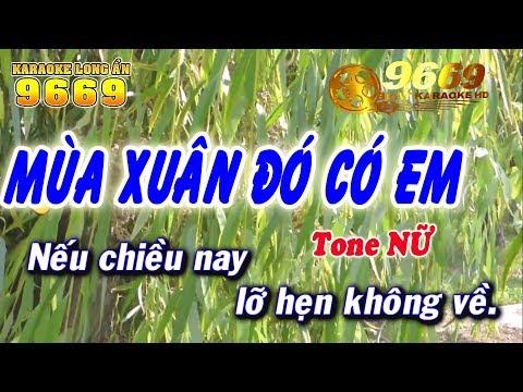 Karaoke Mùa Xuân Đó Có Em - Tone Nữ   Nhạc Sống KLA   LA STUDIO - Karaoke 9669