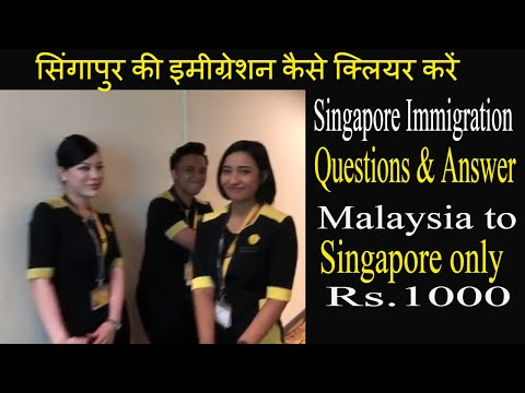 India to Singapore | Scoot Airline |World'best Airline | Immigration questions #timetotravel