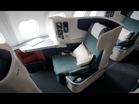 First Time UPGRADED to BUSINESS CLASS on Cathay Pacific Airlines to Hong Kong