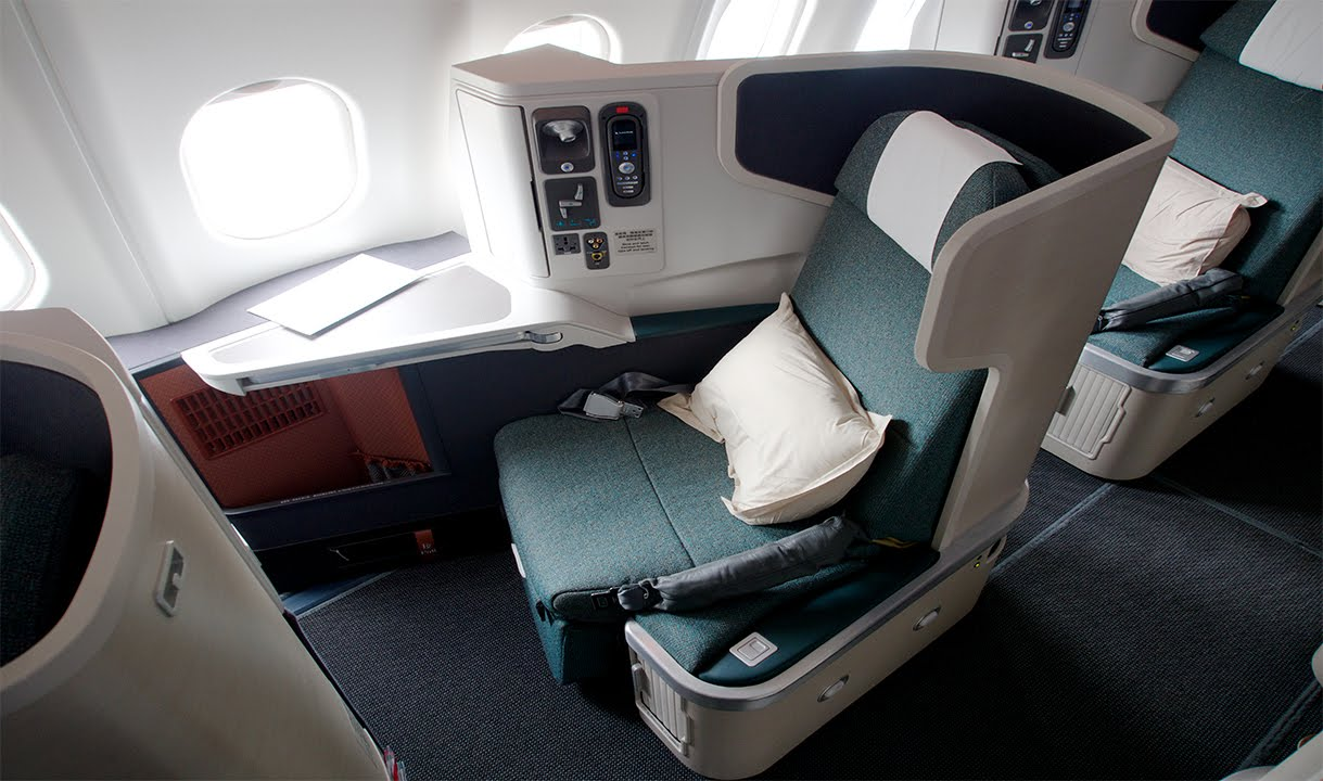 First Time UPGRADED to BUSINESS CLASS on Cathay Pacific ...