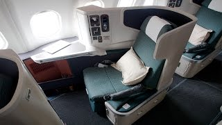First Time UPGRADED to BUSINESS CLASS on Cathay Pacific Airlines to Hong Kong thumbnail