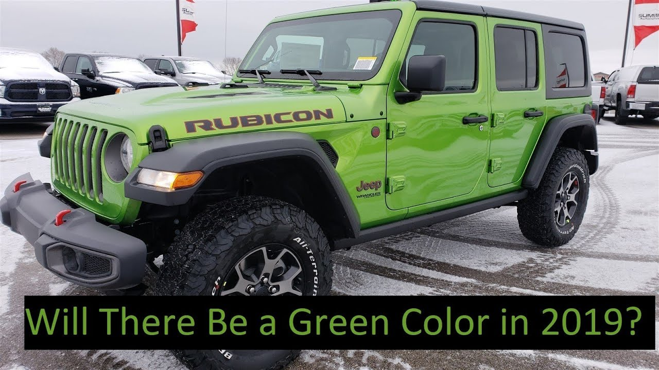 Brand New 2019 Jeep Wrangler 4 Door Unlimited Rubicon Jl Mojito Green Walk Around Review Walkaround Youtube