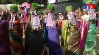 Banjara Womens Dance (nach) in Teej Festival   3TV BANJARA