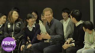 Duke of Sussex Jokes with Japanese Paralympian Hopefuls