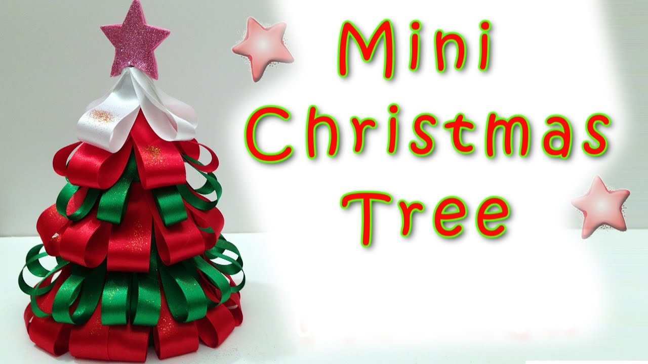 mini christmas tree easy ana diy craftschristmas decorations - Mini Christmas Tree Decorations