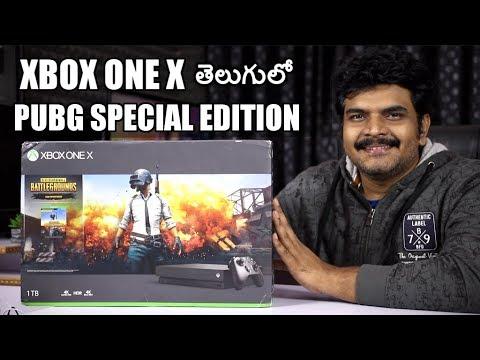 Xbox One X PUBG Edition Unboxing,Setup&Gameplay Ll In Telugu Ll
