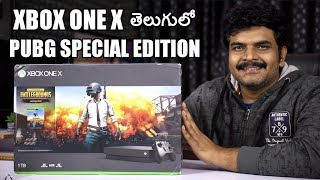 Xbox One X PUBG Edition Unboxing,Setup&Gameplay ll in telugu ll