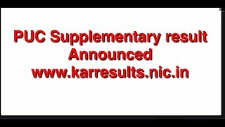 PUC supplementary result announced 2018