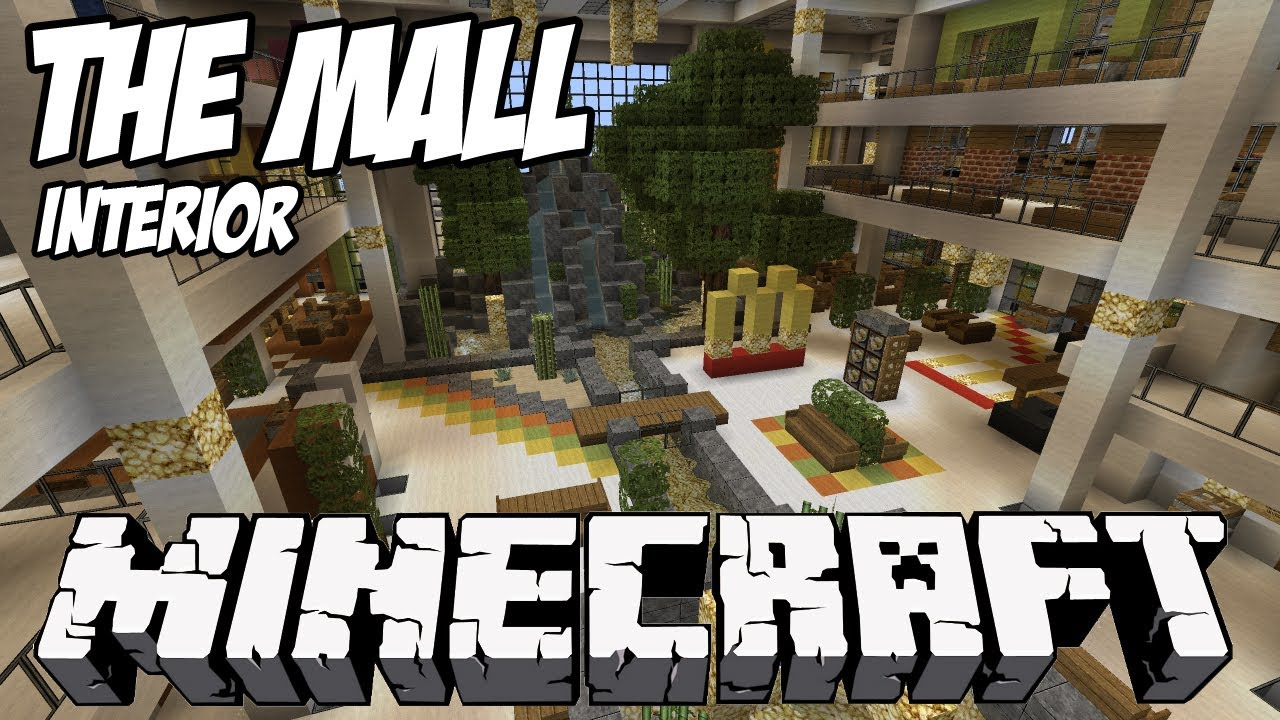 Minecraft Mall HD - Megastructure Interior - YouTube