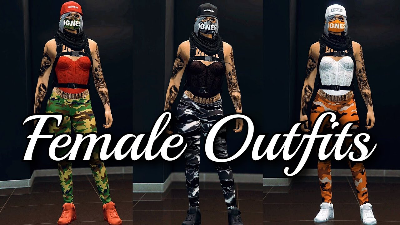 GTA V U2022 Female Outfits | Color Matching - YouTube