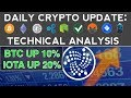 CRYPTOS RECOVER: IOTA & BTC UP OVER 10% (11/15/17) Daily Crypto Update + Technical Analysis