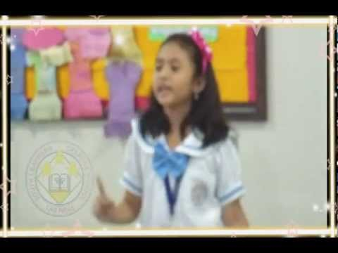 Alisha got the 1st place in Declamation Contest 2013, *** The Spider & The Fly ***
