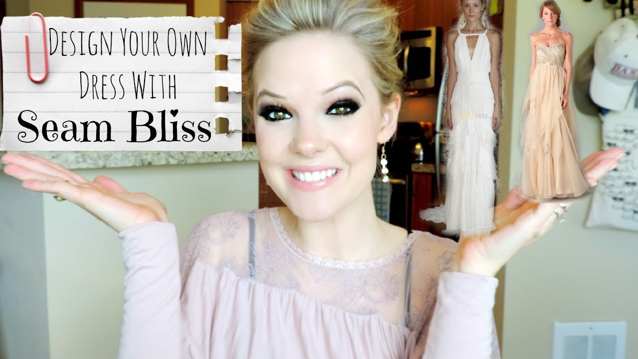 DIY PROM: Design Your Own Dress With SEAM BLISS - YouTube
