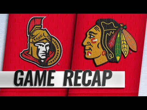 Senators edge Blackhawks, 2-1