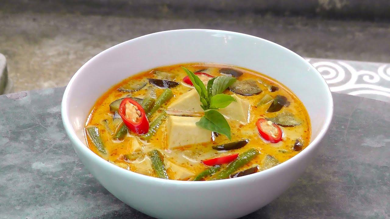 Rotes Thai Curry  Vegan Vegetarisches Rezept  YouTube