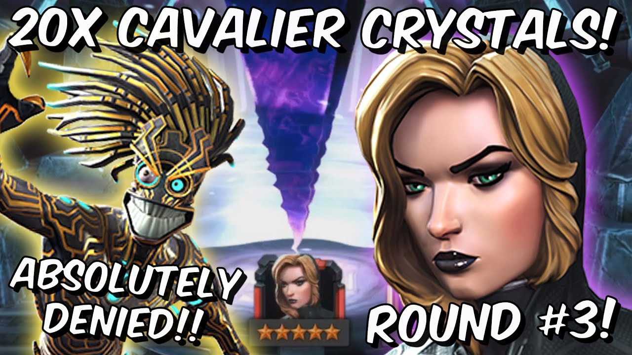 20x 6 Star Black Widow Claire Voyant Cavalier Crystal Opening Round#3! – Marvel Contest of Champion