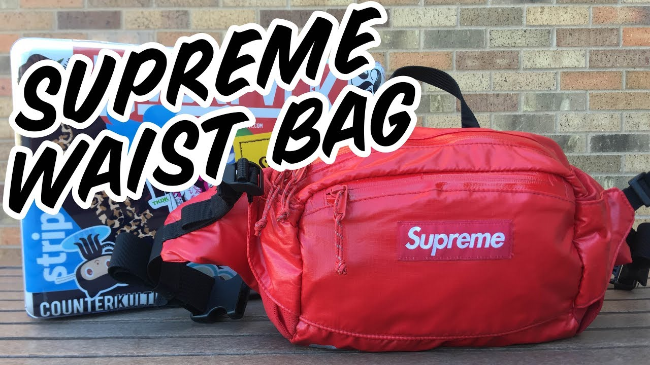 3f2fcbe596 SUPREME WAIST BAG REVIEW FW17 - YouTube