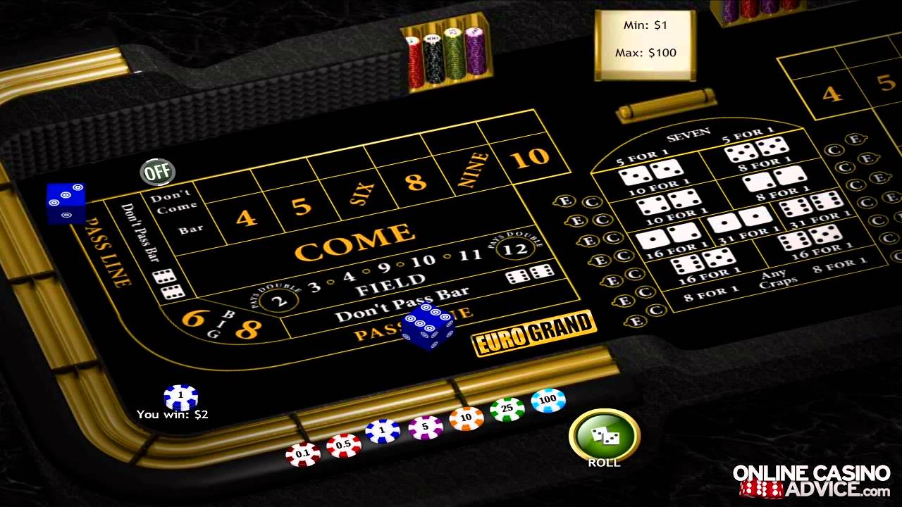 20x odds craps tables