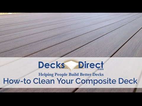 How To Clean Composite Decking You