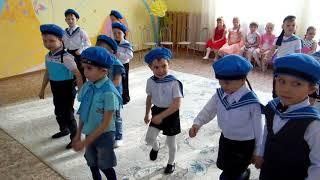 """Танец мальчиков средней группы """"Яблочко"""" (""""Танец моряков"""") в детском саду"""