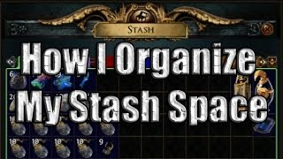 Path of Exile:  How I organize my Stash Tabs