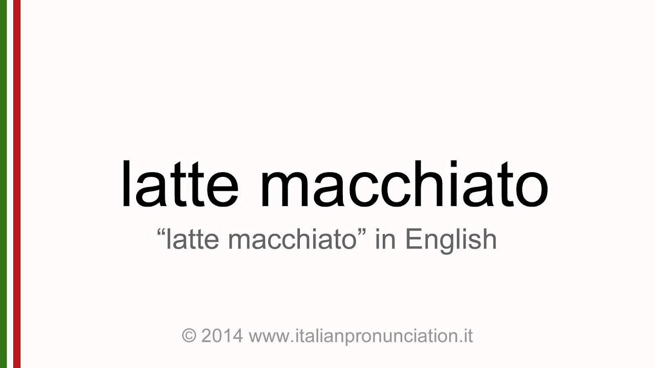 Latte pronunciation