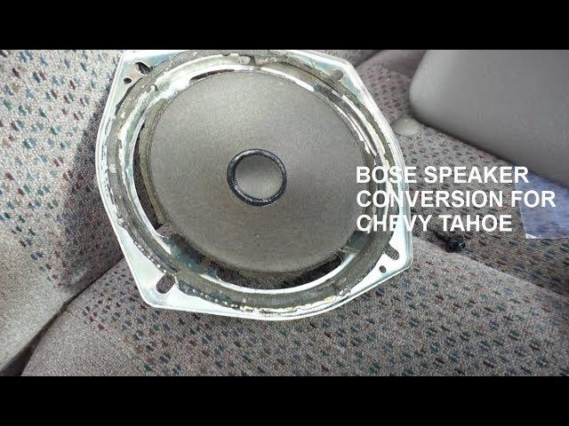 Swap Blown Oem Speakers To Bose Speakers On A 2003 2007 Chevy Tahoe Youtube