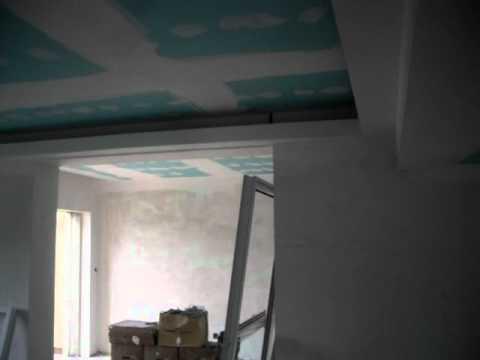 Tecto falso com luz indirecta a volta na parede youtube - Luz indirecta ...