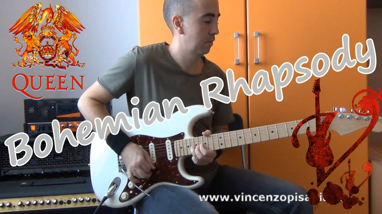 queen bohemian rhapsody guitar solo by vincenzo pisapia youtube. Black Bedroom Furniture Sets. Home Design Ideas