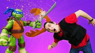 Черепашки Ниндзя и ловушка для супергероев! – Видео игры для мальчиков на Фабрике Героев.