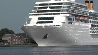 Cruiseschip Costa neoRomantica departure amsterdam 13-7-2013 full hd